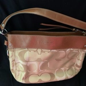 COACH HOBO STYLE BAG - TRADITIONAL BROWN SHADES